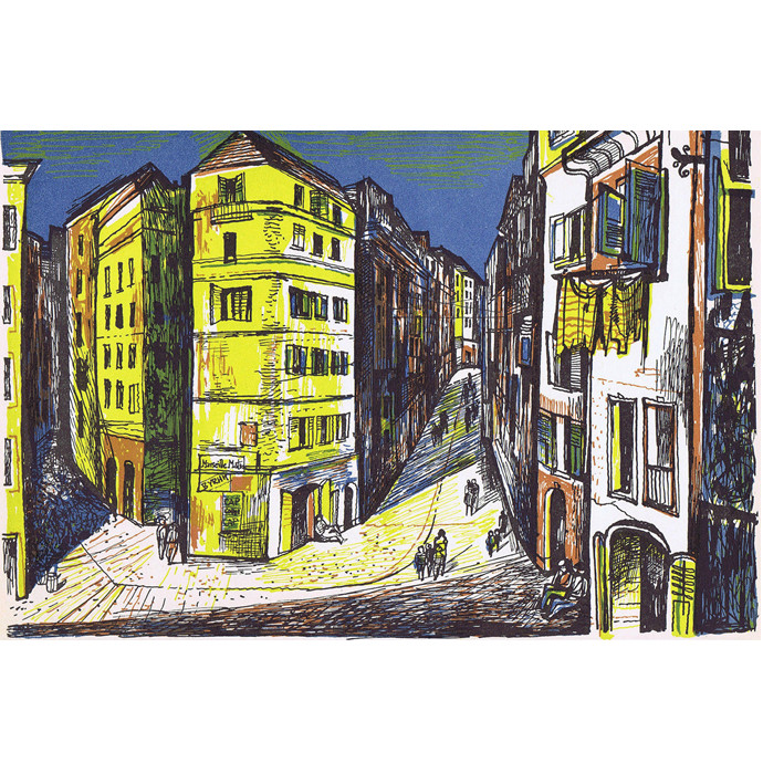 John Minton Time Was Away Street Scene