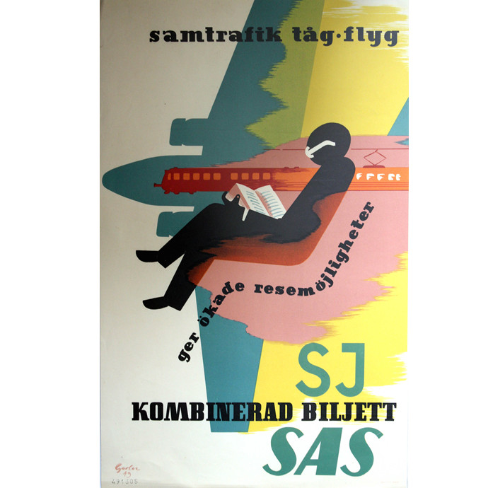 SJ & SAS travel poster