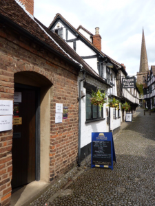 Located in one of Ledbury's oldest streets.